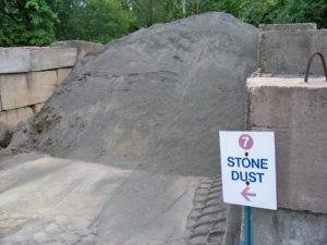 poussière de pierre
