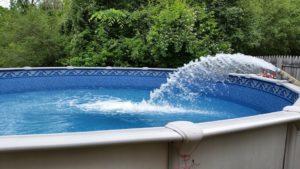 remplissage d'eau