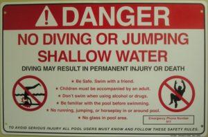 Danger pas de saut